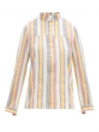 Loula striped cotton-crepe blouse at Matches