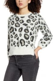 Love by Design Animal Pattern Sweater   Nordstrom at Nordstrom