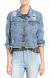 Love  Fire Distressed Denim Jacket at Nordstrom