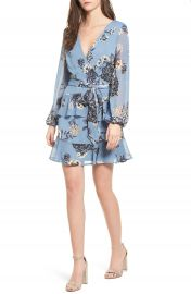 Love  Fire Floral Wrap Style Dress at Nordstrom