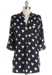 Love Ballad Tunic in Navy at ModCloth