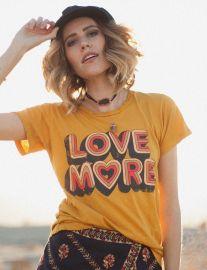 Love More Tee in Mustard by Dazey LA at Dazey LA