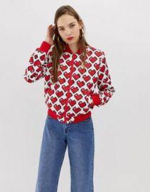 Love Moschino allover heart print bomber jacket   ASOS at Asos