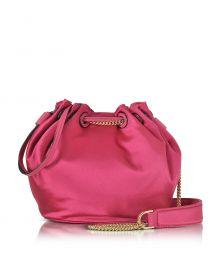 Love Power Satin Bucket Bag at Forzieri