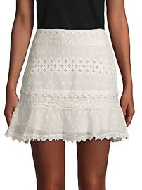 Love Sam - Embroidered Cotton Mini Skirt at Saks Off 5th