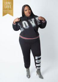 Love Sequin Hoodie by Ashley Stewart at Ashley Stewart