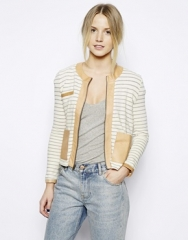 Love Zooey Striped Jacket  at Asos