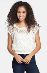 Love on a Hanger Lace Crop Top at Nordstrom