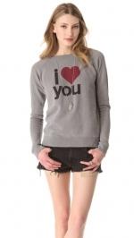 Love you sweatshirt by Free City at Shopbop at Shopbop