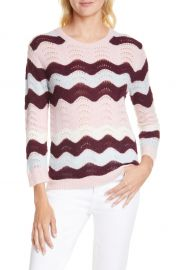 LoveShackFancy Ariella Zigzag Alpaca  amp  Wool Blend Sweater   Nordstrom at Nordstrom