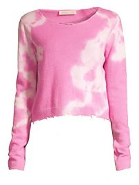 LoveShackFancy - Shane Tie Dye Distressed Wool  amp  Cashmere Sweater at Saks Fifth Avenue