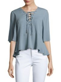 Lovers   Friends - Boulevard Textured Lace-Up Top at Saks Off 5th