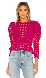 Lovers   Friends Arma Top in Magenta from Revolve com at Revolve