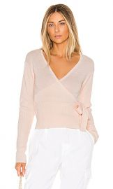 Lovers   Friends Delma Wrap Sweater in Light Pink from Revolve com at Revolve