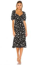Lovers   Friends Dennis Midi Dress in Black Polka Dot from Revolve com at Revolve