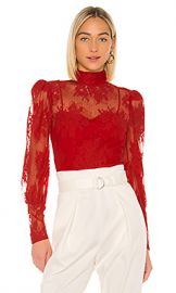 Lovers   Friends Marcie Top in Flame Scarlet from Revolve com at Revolve