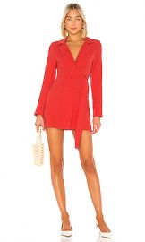 Lovers   Friends Quinton Blazer Dress in Coral Red from Revolve com at Revolve
