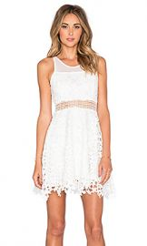 Lovers and Friends x REVOLVE Play Date Fit and Flare Dress in White at Revolve