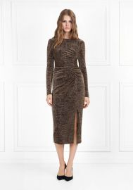 Lovey Metallic Jersey Midi Dress at Rachel Zoe