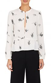 Lox Silk Peplum Blouse by ALC at Barneys