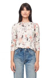Lua Floral Print Jersey Tee at Rebecca Taylor