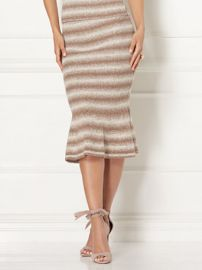 Luana Sweater trumpet skirt at NY&C