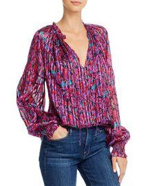 Luanne Leaf Stripe Print Top at Bloomingdales