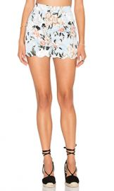 Lucca Couture Scalloped Fitted Short in Powder Blue Floral from Revolve com at Revolve