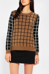 Lucca Couture Windowpane Sweater at Urban Outfitters