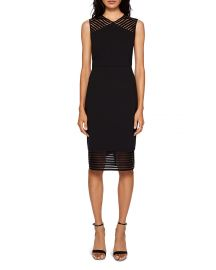 Lucette Mesh Detail Body-Con Dress at Bloomingdales