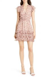Lucia Metallic Silk Blend Chiffon Mini Dress at Nordstrom Rack