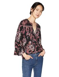 Lucky Brand Floral Border Top at Amazon