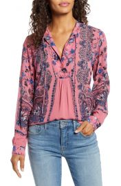 Lucky Brand Paisley  amp  Floral Peasant Top   Nordstrom at Nordstrom
