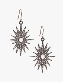 Lucky Brand Silver-Tone Pav eacute  Starburst Drop Earrings Jewelry   Watches -  Fashion Jewelry - Macy s at Macys