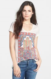 Lucky Brand  Hamsa Hand  V-Neck Tee at Nordstrom