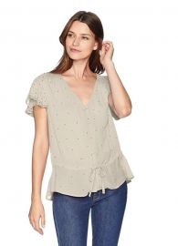 Lucky Brand  It Girl Flutter Sleeve Top at Amazon