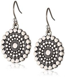 Lucky Brand Blue Moon Tribal Drop Earrings at Amazon