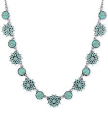 Lucky Brand Blue Stone Collar Necklace at Macys