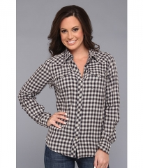 Lucky Brand Dixie Gingham Western Black Multi at 6pm