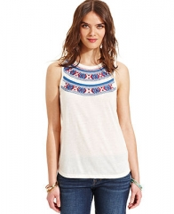 Lucky Brand Embroidered Tank Top - Women - Macys at Macys