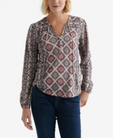 Lucky Brand Graphic Print Top at Macys