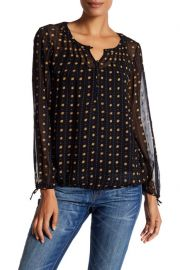 Lucky Brand Metallic Dot Print Blouse at Nordstrom Rack