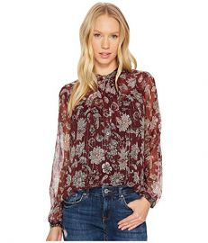 Lucky Brand Metallic floral Blouse at 6pm