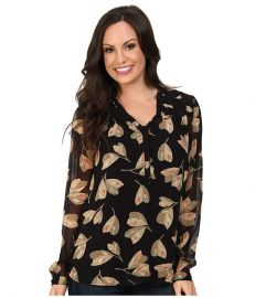 Lucky Brand Mixed Floral Top Black Multi at 6pm