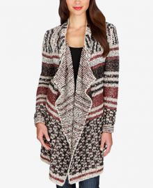 Lucky Brand Mixed-Print Striped Cardigan at Macys