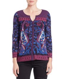 Lucky Brand Paisley Peasant Top at Lord & Taylor