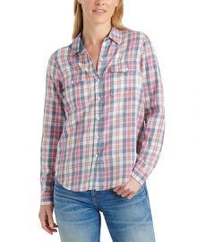 Lucky Brand Plaid Button-Down Shirt   Reviews - Tops - Women - Macy s at Macys