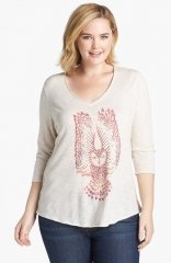 Lucky Brand Studded Owl Tee at Nordstrom