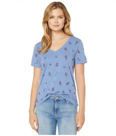 Lucky Brand Tossed Floral Embroidered Tee at Zappos