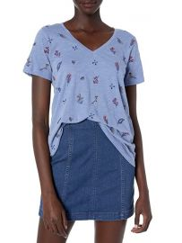 Lucky Brand Tossed Floral Embroidered Tee at Amazon